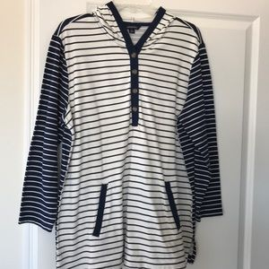 Women's Lands End Oversized Top with Hood